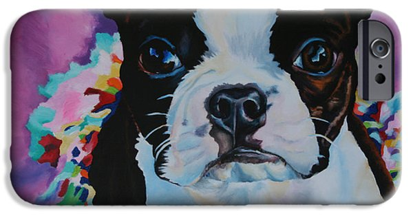 Recently Sold -  - Black Dog iPhone Cases - Truffles Tutu iPhone Case by Susan Herber