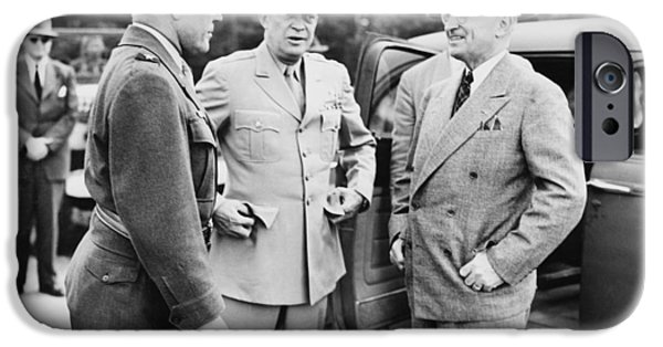 Politician Photographs iPhone Cases - Truman Eisenhower And Hickey  iPhone Case by War Is Hell Store