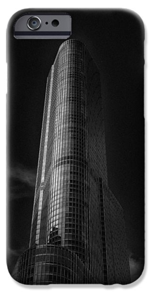 Chicago Cubs iPhone Cases - Trump Tower Chicago iPhone Case by David Haskett