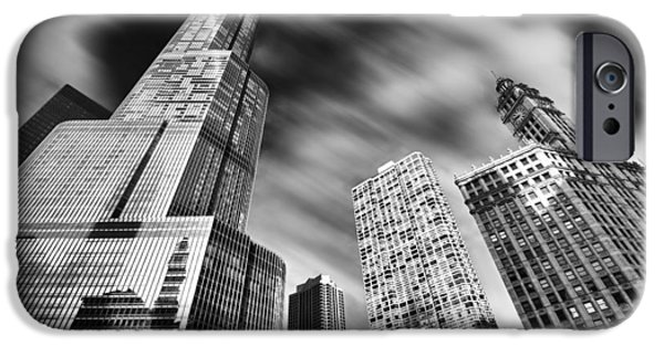 Wrigley iPhone Cases - Trump Tower in Black and White iPhone Case by Sebastian Musial