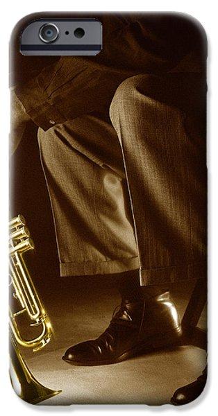 Trumpet 2 iPhone Case by Tony Cordoza