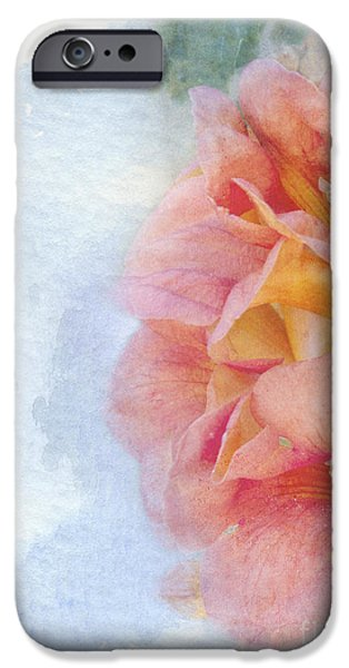 Flora Mixed Media iPhone Cases - Trumpet Flowers #3 iPhone Case by Betty LaRue