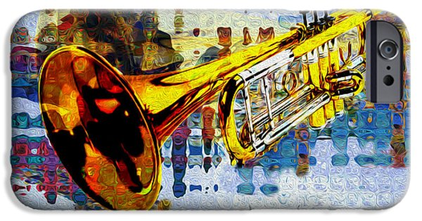 Lips iPhone Cases - Trumpet iPhone Case by Jack Zulli