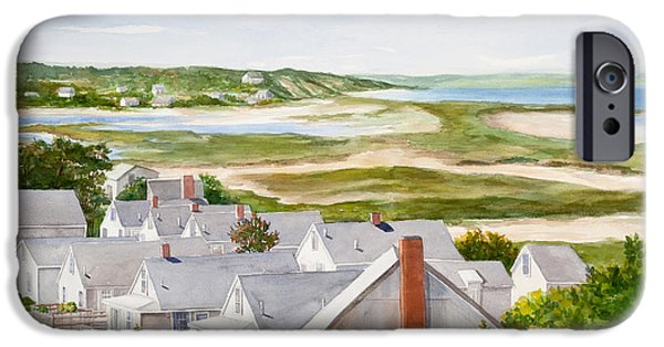 Dunes Paintings iPhone Cases - Truro Summer Cottages iPhone Case by Michelle Wiarda