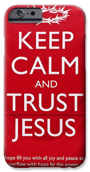 Trust Jesus 01 iPhone Case by Rick Piper Photography