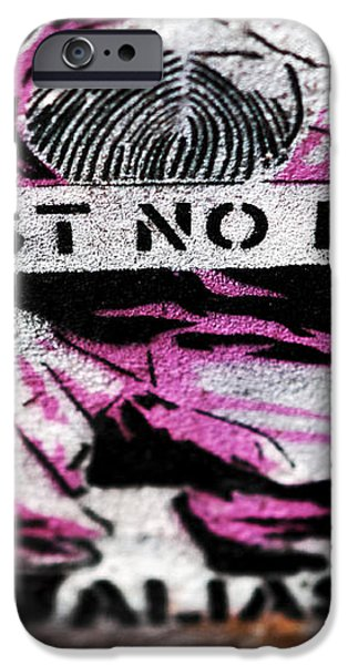 Trust No Faces iPhone Case by John Rizzuto