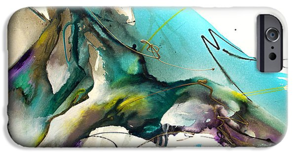 Recently Sold -  - Abstract Expressionist iPhone Cases - Trust The Flow iPhone Case by Jonas Gerard