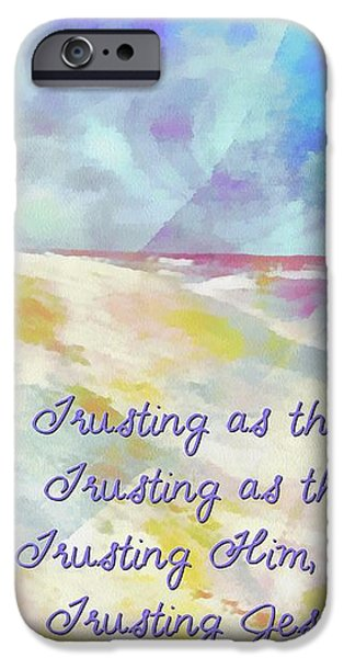 Trusting iPhone Case by Michelle Greene Wheeler