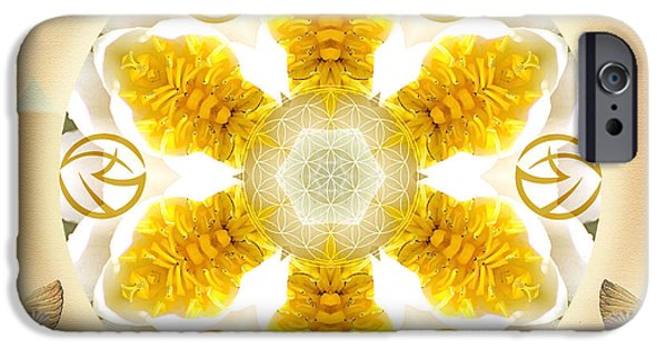 Flower Of Life Mixed Media iPhone Cases - Truth iPhone Case by Alicia Kent