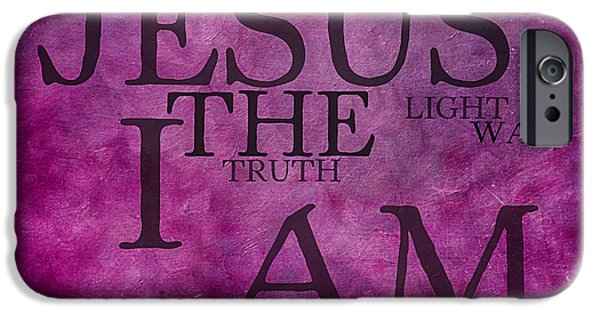 Bridegroom iPhone Cases - Truth Light Way 2 iPhone Case by Angelina Vick