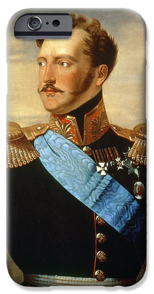 1796 iPhone Cases - Tsar Nicholas I iPhone Case by Anonymous