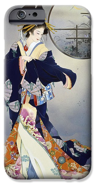 Theatrical iPhone Cases - Tsukiakari iPhone Case by Haruyo Morita
