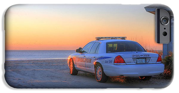 Police Car iPhone Cases - Tsunami Watch iPhone Case by JC Findley