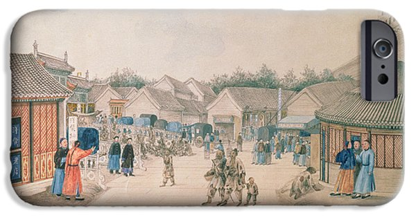 China iPhone Cases - Tsyan-minh Bridge, From Chinese Sketches, 1804-06 Pencil And Wc On Paper iPhone Case by Ivan Alexandrov