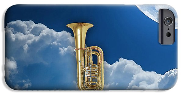 Instrument iPhone Cases - Tuba Dreams iPhone Case by Marvin Blaine
