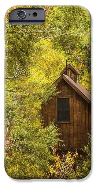 Cabin iPhone Cases - Tucked Away In Telluride iPhone Case by Darren  White
