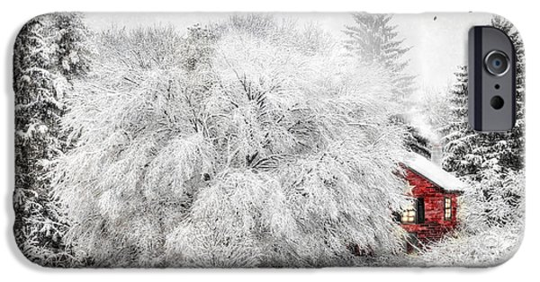 Christmas Greeting Digital iPhone Cases - Tucked Away iPhone Case by Lori Deiter