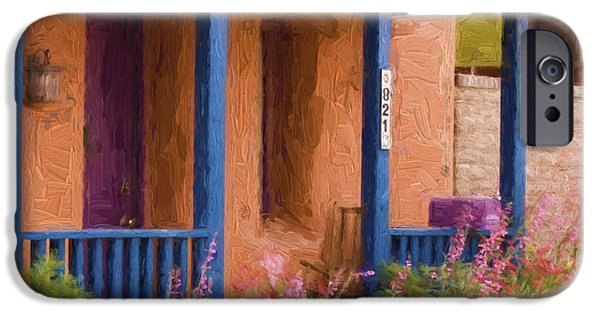 Painterly iPhone Cases - Tucson 821 Barrio Painterly Effect iPhone Case by Carol Leigh