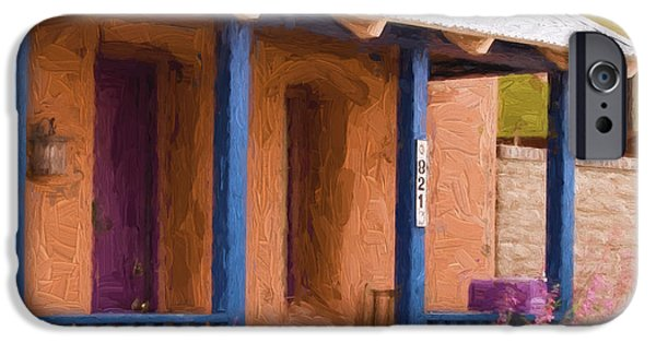 Carol Leigh iPhone Cases - Tucson 821 Barrio Painterly Effect iPhone Case by Carol Leigh