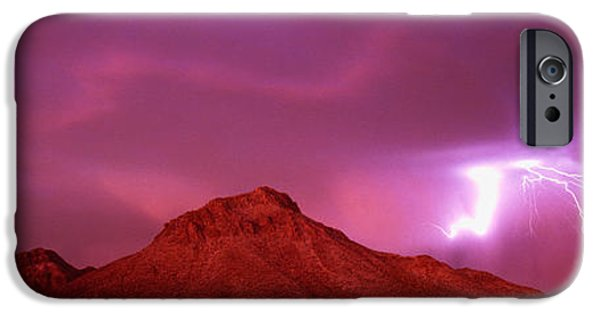Storm iPhone Cases - Tucson Az Usa iPhone Case by Panoramic Images