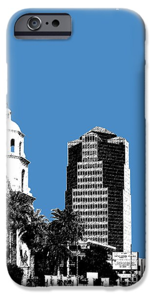 Pen And Ink iPhone Cases - Tucson Skyline 2 - Slate iPhone Case by DB Artist