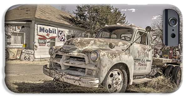 Tow Truck iPhone Cases - Tucumcari Tow Truck iPhone Case by Rob Hawkins