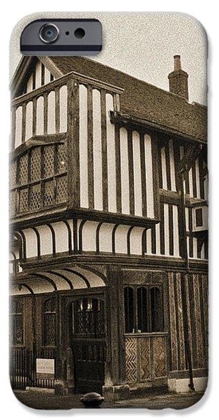 Tudor House Southampton iPhone Case by Terri  Waters