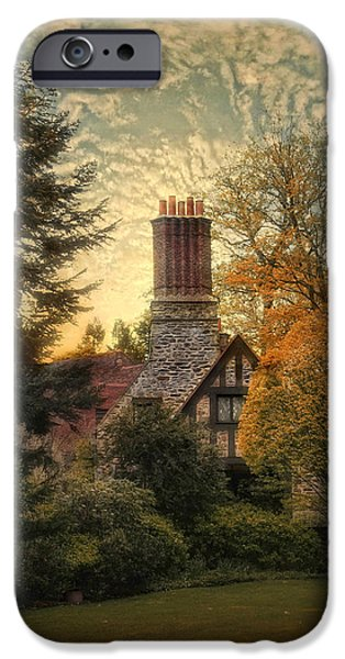 Home iPhone Cases - Tudor in Autumn iPhone Case by Jessica Jenney