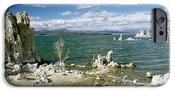 Calcium Carbonate iPhone Cases - Tufa Rock Formations At The Lakeside iPhone Case by Panoramic Images
