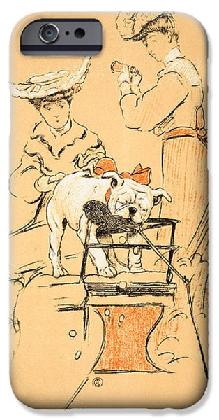 Bull Dog iPhone Cases - Tug of War iPhone Case by Cecil Charles Windsor Aldin