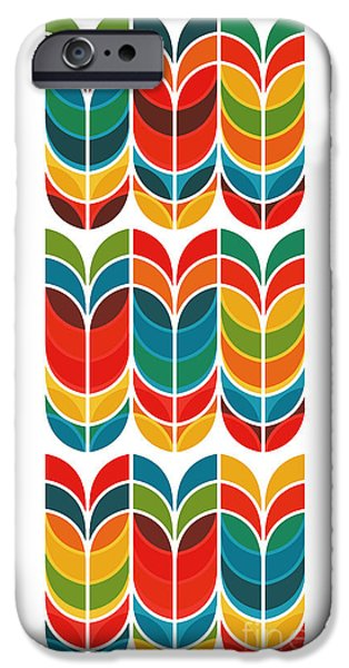 Geometric Shape iPhone Cases - Tulip iPhone Case by Budi Kwan