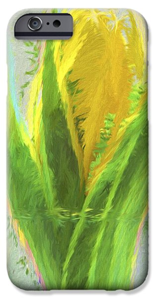 Painter Photographs iPhone Cases - Tulip Flower Digital Painting iPhone Case by David Haskett