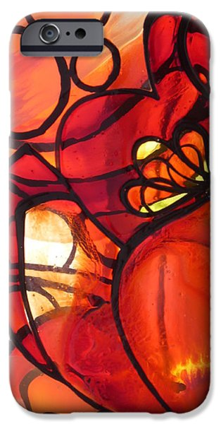 Nature Abstract Glass Art iPhone Cases - Tulip iPhone Case by Sharon Cox