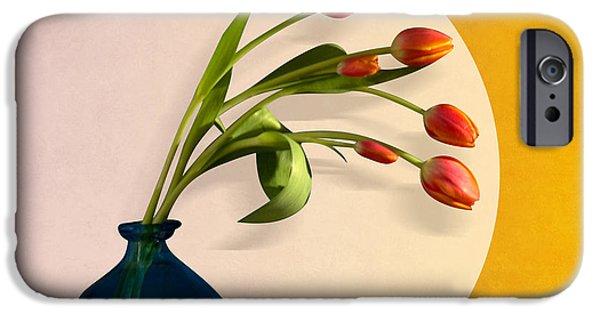 Orsillo Digital iPhone Cases - Tulips 3 iPhone Case by Mark Ashkenazi