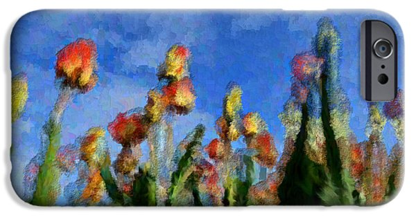 Discrimination Digital iPhone Cases - Tulips Abound iPhone Case by Holley Jacobs