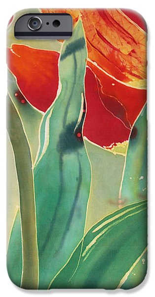 Tulips and Pushkinia Upper Detail iPhone Case by Anna Lisa Yoder