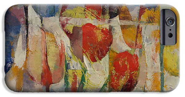 Michael iPhone Cases - Tulips iPhone Case by Michael Creese