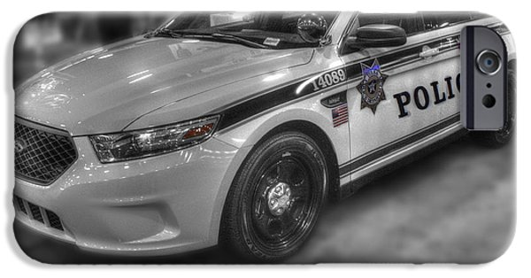 Police Cruiser iPhone Cases - Tulsa Police at State Fair p1 iPhone Case by John Straton
