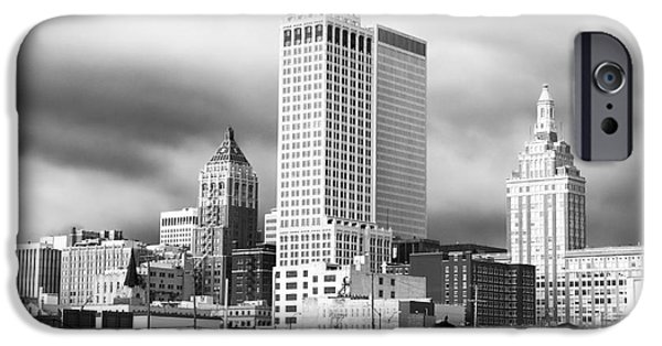 Monotone iPhone Cases - Tulsa Rising iPhone Case by John Rizzuto