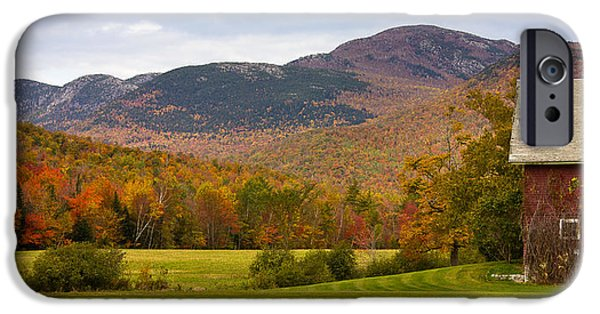 Maine Mountains iPhone Cases - Tumbledown Mountain in the Fall iPhone Case by Benjamin Williamson