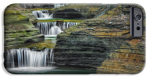 Watkins Glen iPhone Cases - Tumblin Down iPhone Case by Bill  Wakeley