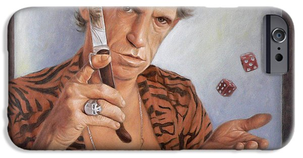Keith Richards iPhone Cases - Tumbling dice iPhone Case by Thomas Langeveld