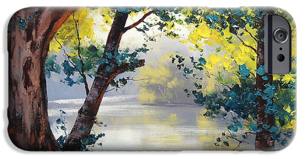 Atmospheric iPhone Cases - Tumut River Australia iPhone Case by Graham Gercken