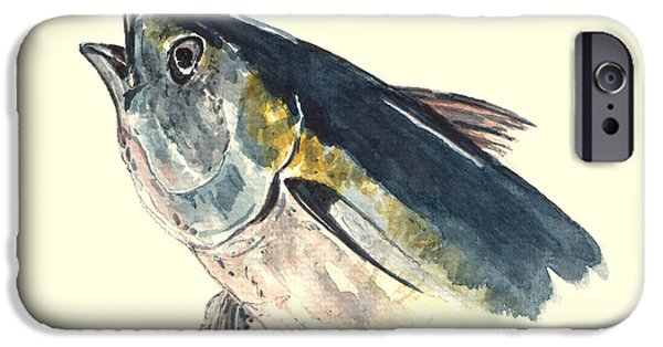 Tuna iPhone Cases - Tuna fish iPhone Case by Juan  Bosco