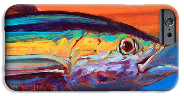 Flyfishing iPhone Cases - Tuna Portrait iPhone Case by Mike Savlen