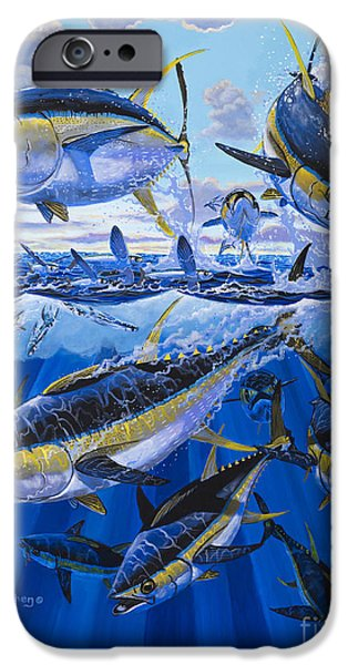 Swordfish iPhone Cases - Tuna rampage Off0018 iPhone Case by Carey Chen