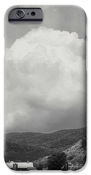 Field. Cloud iPhone Cases - Tunbridge Vermont Farmscape iPhone Case by Edward Fielding