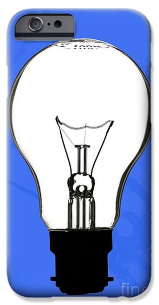 Electrical Equipment iPhone Cases - Tungsten Filament Light Bulb iPhone Case by Martyn F. Chillmaid