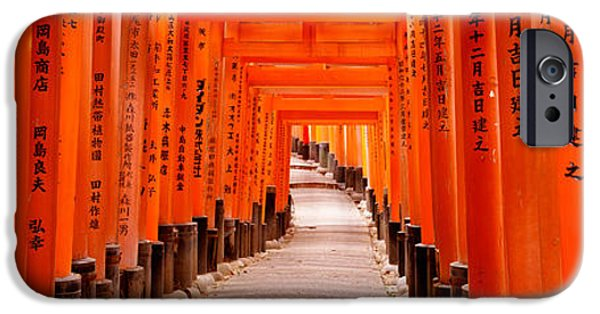 Pathway iPhone Cases - Tunnel Of Torii Gates, Fushimi Inari iPhone Case by Panoramic Images
