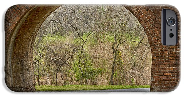 Mounds iPhone Cases - Tunnel Vision iPhone Case by Anne Rodkin